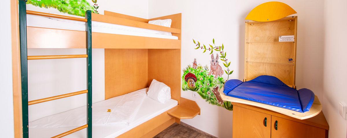 Kinderzimmer im Apartment des Hotel Xylophon in Lutzmannsburg