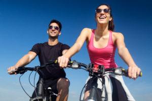 Freizeitangebot Sport Radfahren mit dem Partner beim Hotel Xylophon bei der Sonnentherme